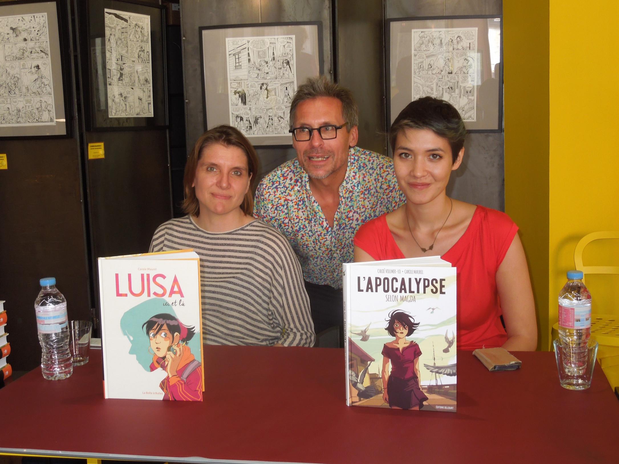 CHLOE VOLLMER pour L'apocalypse et CAROLE MAUREL pour Luisa JUILLET 2016