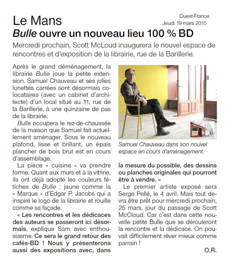 OUEST-FRANCE MARS 2015