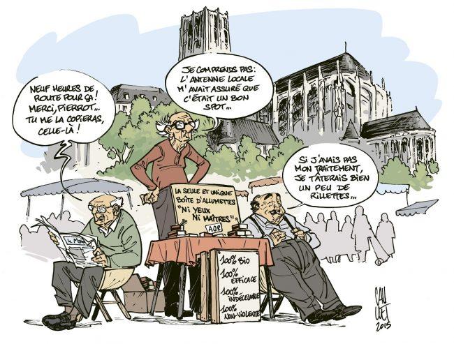 LES VIEUX FOURNEAUX PAUL CAUUET DESSIN INEDIT SIGNE NUMEROTE POUR LA LIBRAIRIE BULLE 20€