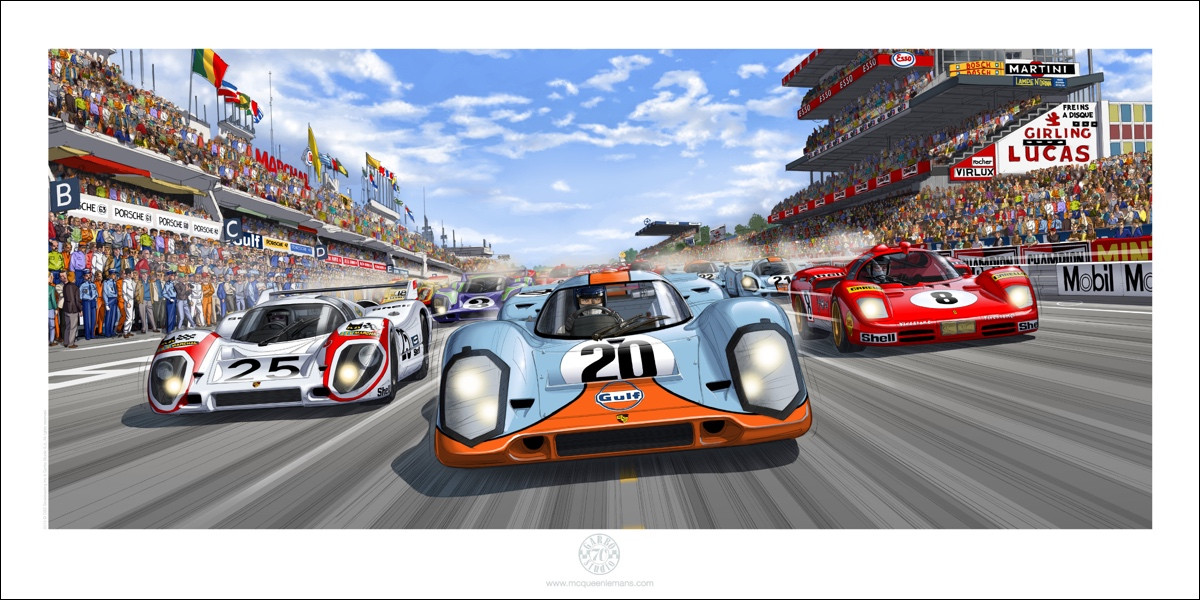 THE RACE ON  50 x 100 cm  80 EUR