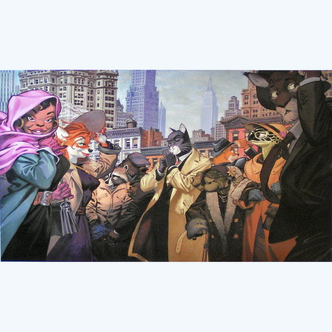 BLACKSAD NEW YORK AFFICHE 60X80CM 25EUR