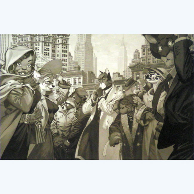 BLACKSAD TEN FACES GUARNIDO AFFICHE 30X40CM