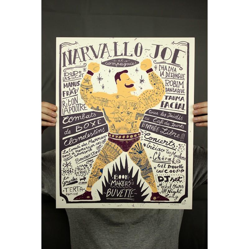 NARVALLO JOE GEOFFREY GRIMAL SERIGRAPHE SIGNEE NUMEROTEE 40X50CM 50EUR