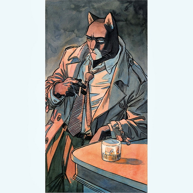 BLACKSAD AU BAR GUARNIDO AFFICHE 50X70CM 22 EUR