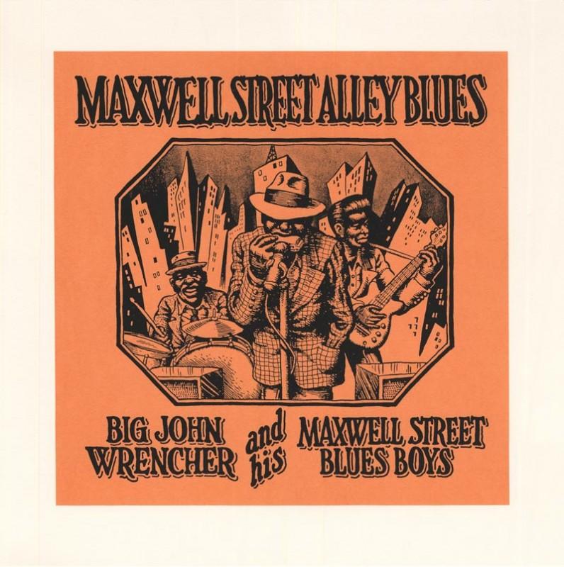 CRUMB MAXWELL STREET ALLEY BLUES SERIGRAPHIE 50X50CM 150 EUR