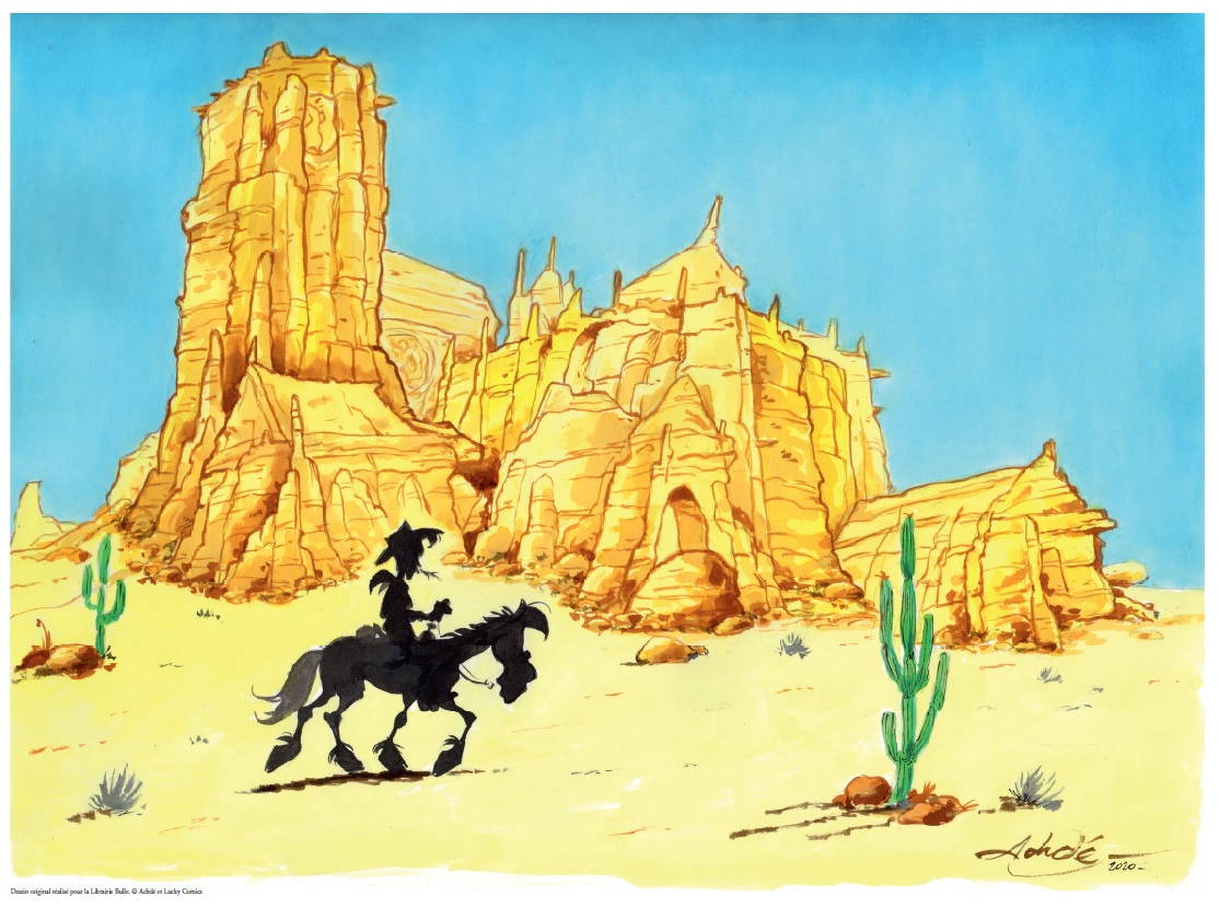 CATHEDRALE ACHDE LUCKY LUKE 50X70CM 25 EUR