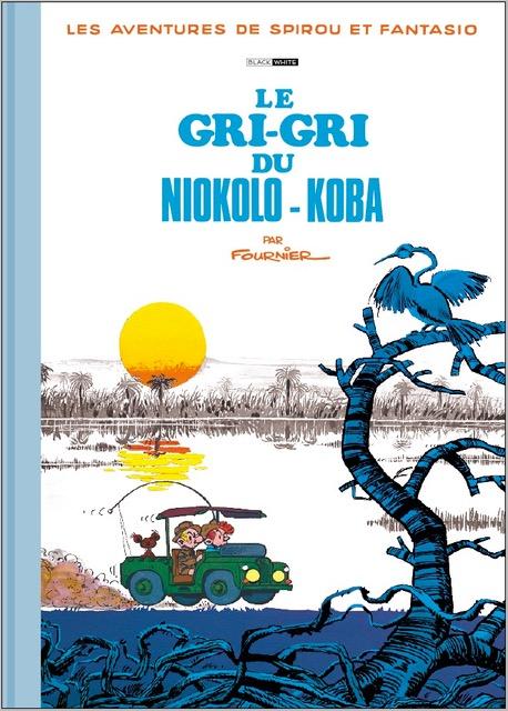 FOURNIER SPIROU ET FANTASIO LE GRI-GRI DU NIOKOLO-KOBA TIRAGE BLACK AND WHITE 185 EUR