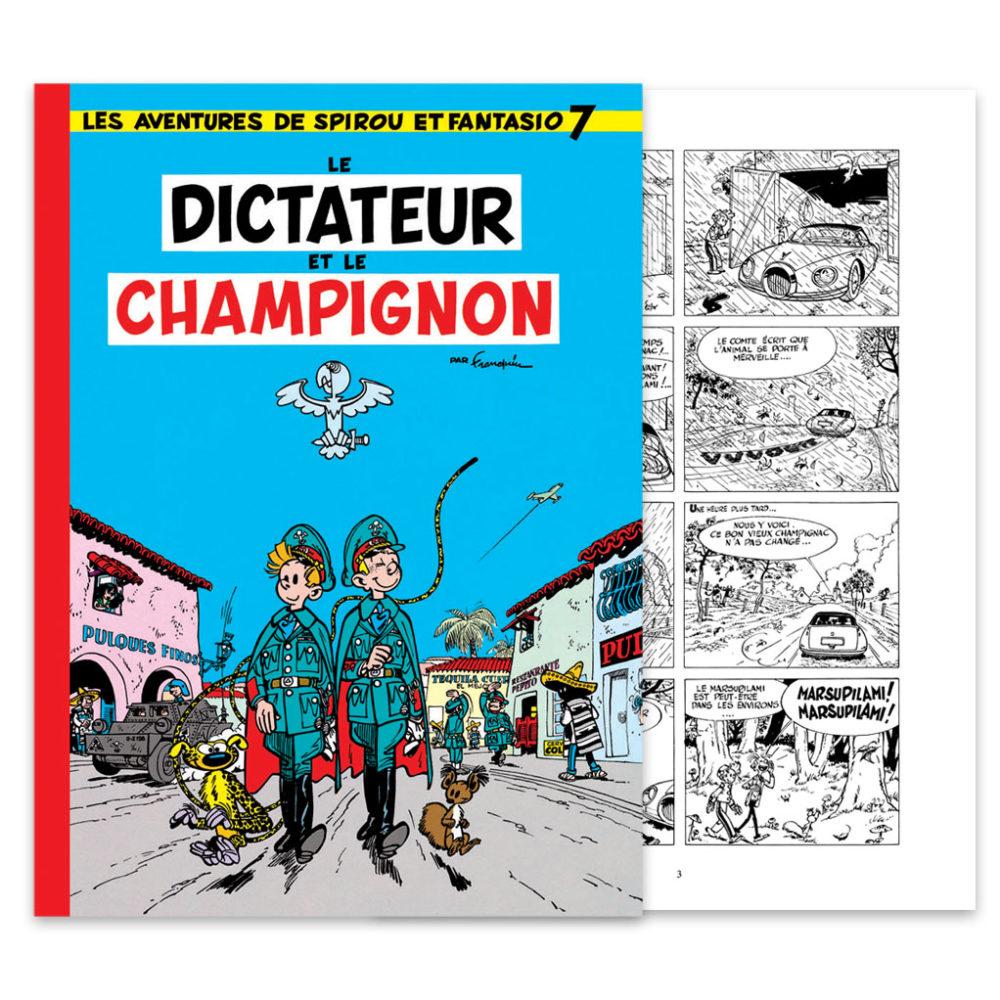 FRANQUIN SPIROU LE DICTATEUR ET LE CHAMPIGNON N&B HENNEBELLE 370 EUR