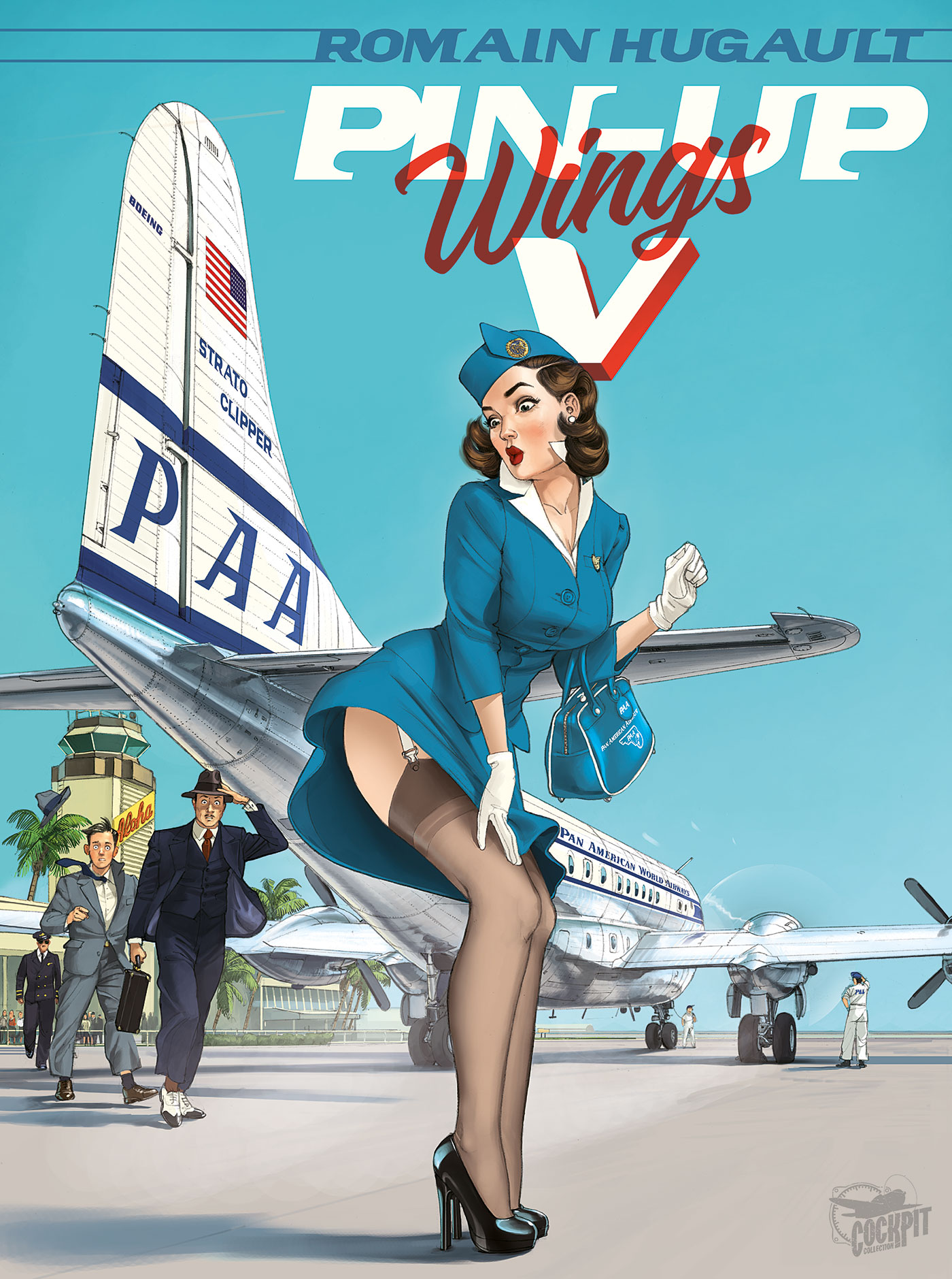 HUGAULT PIN-UP WINGS  TOME 5 GRAND FORMAT 69 EUR