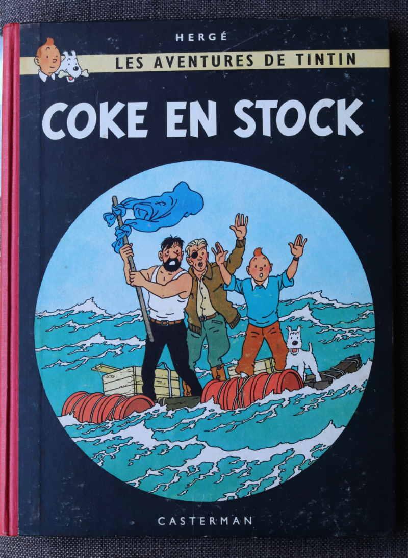 TINTIN COKE EN STOCK Dos Rouge – 2ème plat B24 – 1958 – Edition Originale Belge – Très bon état – 650€