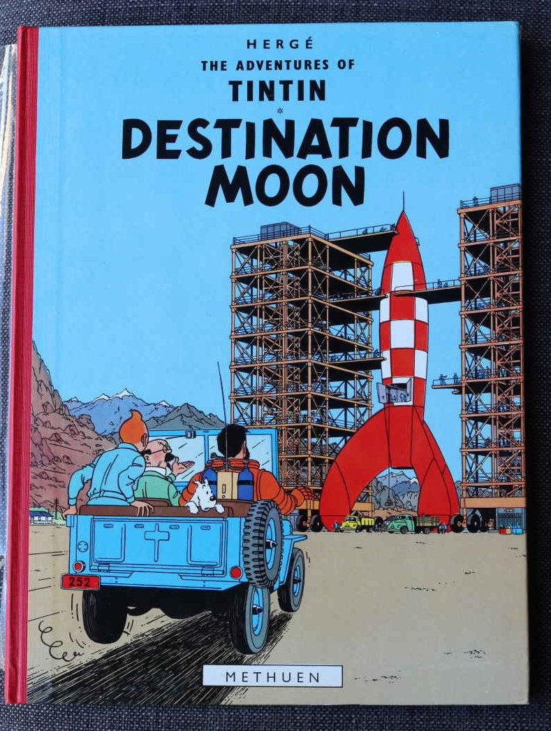 TINTIN DESTINATION MOON Dos Rouge – Edition anglaise – Etat neuf – 700€Dos Rouge – Edition anglaise – Etat neuf – 700€