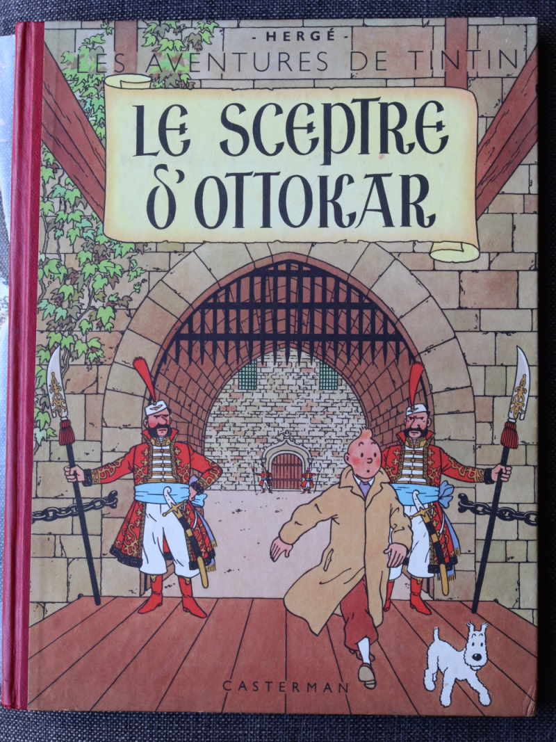 TINTIN LE SCEPTRE D'OTTOKAR Dos Rouge – 2ème plat B7 – 1952 – Très bon état – 600€