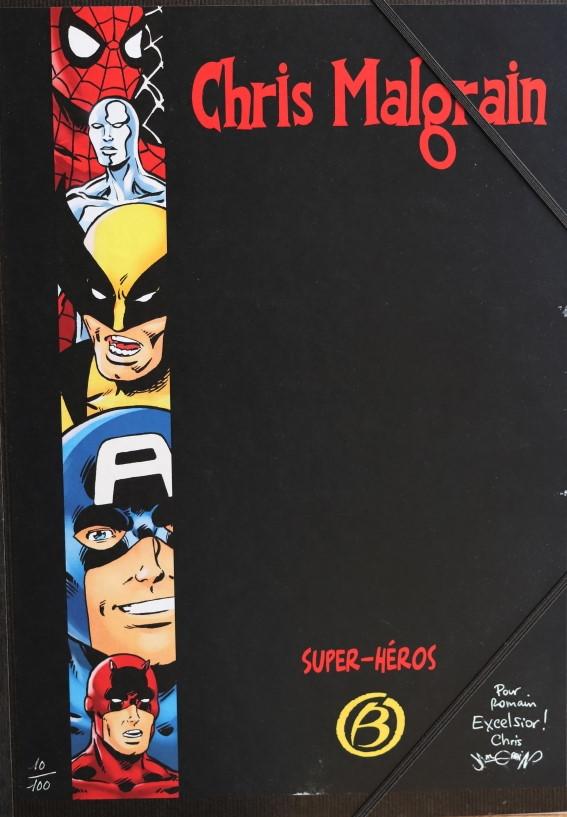 CHRIS MALGRAIN PORTFOLIO SUPER-HEROS – 100 EX – 49 EUR