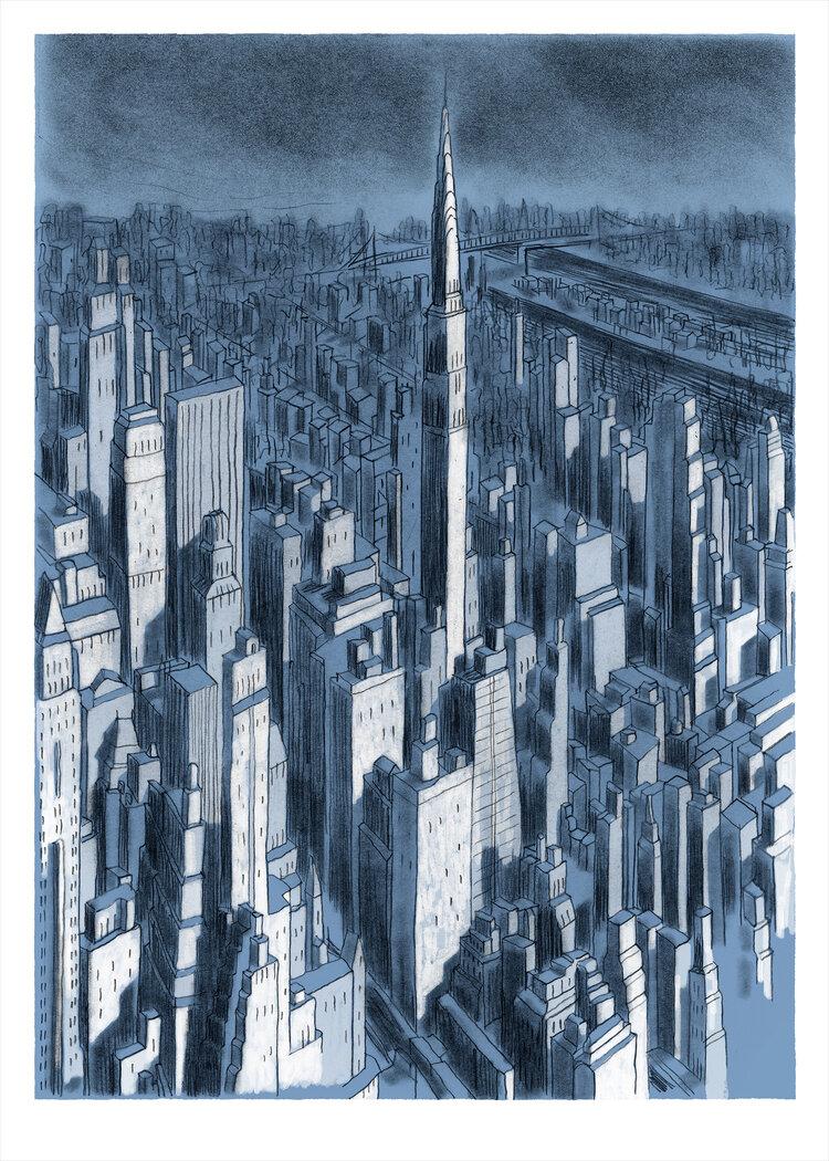 CAILLEAUX NEW YORK DIGIGRAPHIE 50X70 CM 160 EUR