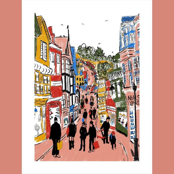DONOHOE GUILDFORD HIGHSTREET DIGIGRAPHIE 30X40 CM 60 EUR